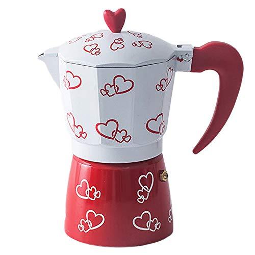 MYYINGELE Espressokocher 300ml Aluminium 6 Tassen italienische Moka-Kanne Espressomaschine Herd-Kaffeemaschinen für Home Office Kaffeekanne