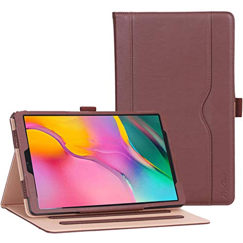 ProCase Galaxy Tab A 10.1 Case 2019 Model T510 T515 T517 - Stand Folio Case Cover for Galaxy Tab A 10.1 Inch 2019 Tablet SM-T510 SM-T515 SM-T517 -Brown