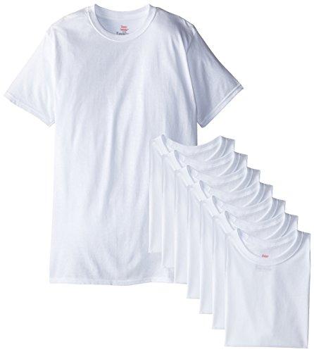 Hanes Men's 8-Pack Crew T-Shirt, White, XX-Large