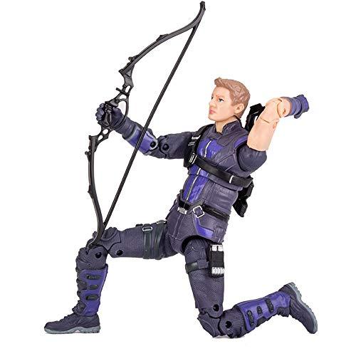 Marvel Avengers: Hawkeye Action-Figuren - 7 Zoll/Höhe 18 Cm , Boy PVC Hawkeye Toys, Gelenke Können Aktiv Sein