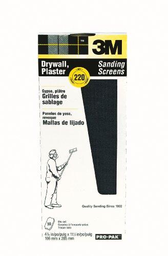 3M 99436 Drywall Sanding Screens Pro-Pak, 220-Grit, 10-Pack