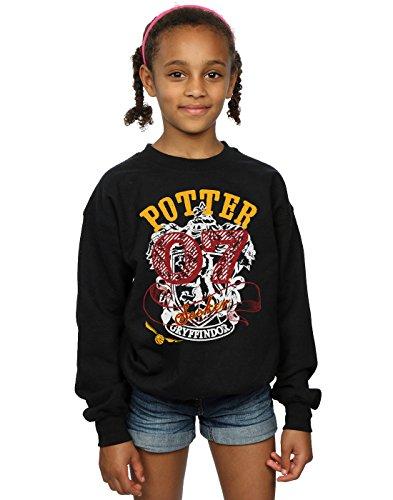 Harry Potter Mädchen Gryffindor Seeker Sweatshirt 9-11 Years Schwarz