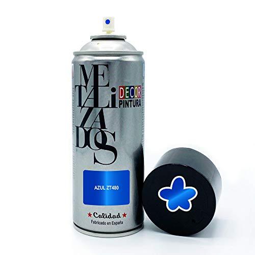 Pintura Spray METALIZADA Azul 400ml imprimacion para madera, metal, ceramica, plasticos /...