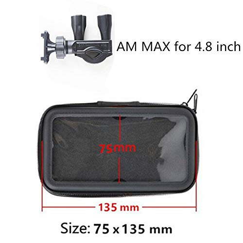 JUNLILIN Bicycle Phone Holder Bicycle Motorcycle Mobile Phone Holder Moto Support Smartphones GPS with Waterproof Bag (Color : S)