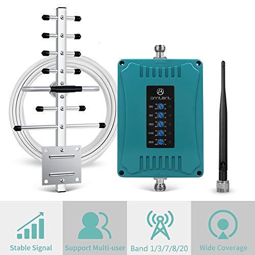 Handy Signalverstärker für alle europäische Betreibers GSM UMTS LTE Verstärker 800/900/1800/2100/2600 MHz 2G 3G 4G Repeater Sprachanruf und Daten verbessern