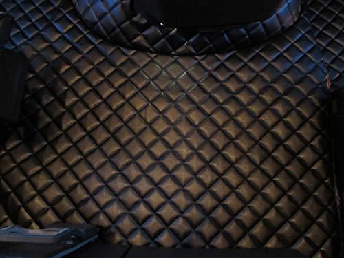 TEXMAR Fußmatten für LKW FH 4 Automat ab 2014 Linkslenker-Fahrzeug, aus umweltfreundlichem Leder, Schwarz