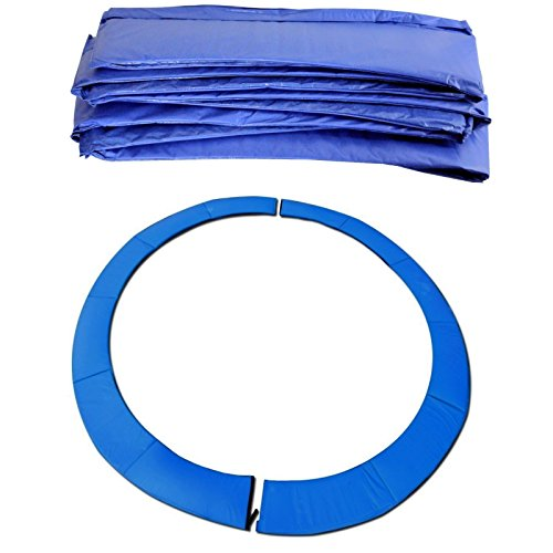BodyRip Replacement Trampoline Safety Spring Cover Padding Pad Mat, Blue, 10 Ft