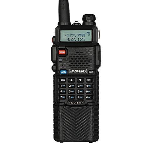 BaoFeng UV-5R UHF/VHF 8W/4W/1W Radio Bidireccional con Auricular, Doble Banda, de batería Li-Ion 3800mAh,Negro