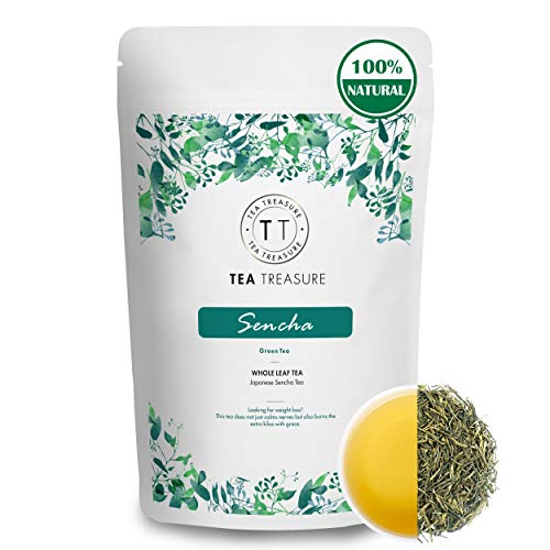 Teatreasure Japanese Sencha Green Tea - 100 Gm - Energizing Tea AntiiOxidents Rich Tea