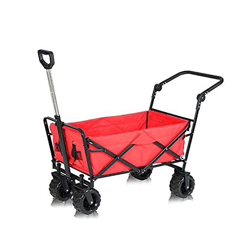 Z-SEAT Carro Plegable para Acampar, Carro Plegable para jardín en la Playa, Carro Plegable para jardín de Servicio Pesado, con portavasos de Bolsillo Lateral, Bolsa de tran