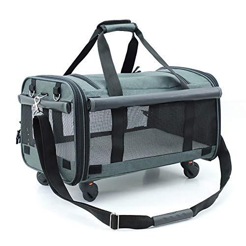HNWNJ Haustierausstattung Haustierbeutel, Portable Hundebeutel aus Port, Universal-Rad, kann Haustierbeutel, Haustiervorräte, Vierrad-Dog-Wagen verstecken (Color : C)