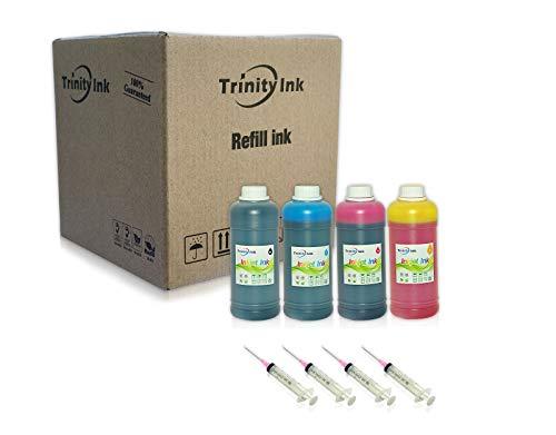 Trinity Compatible Ink Refill Replacement for Epson 502 Exprsion ET-2700 ET-2750 ET-3700 Workforce ET-3750 ET-4750 ET-4752 (Black, Cyan, Magenta, Yellow, 4x500ml)