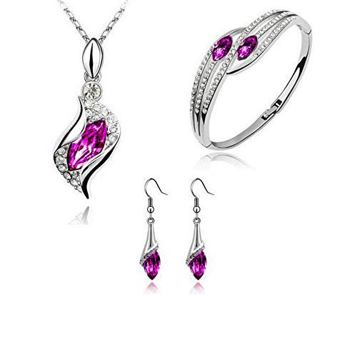 Necklaces & Pendants for Women Fashion Style Jewelry Set Crystal Chic Eyes Drop Earrings Necklace Bracelet DIYJewelry & Watches Christmas for Faclot