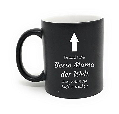 Laser Tattoo - Tasse Beste Mama mit Gravur: So Sieht die Beste Mama der Welt aus. (Weiss/schwarz)