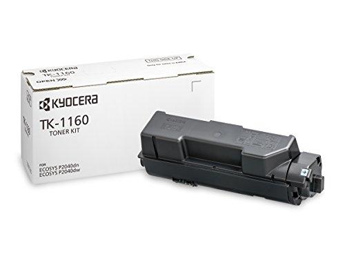 Kyocera TK-1160 Toner Black, 7,200 Pages, Original Premium Printer Cartridge 1T02RY0NL0 for ECOSYS P2040dn, P2040dw