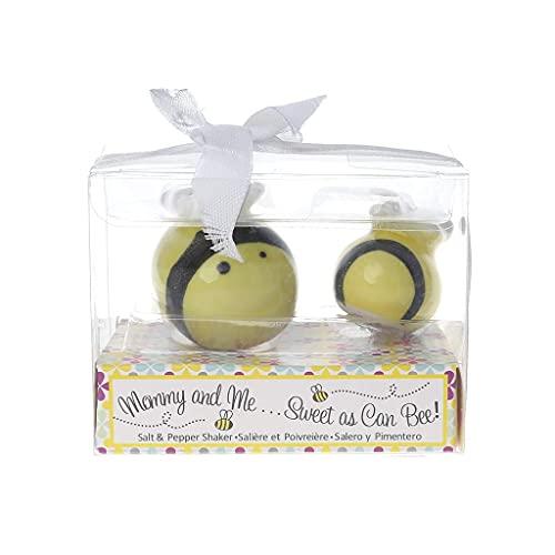 DealMux tarros de cerámica para especias de abejas, saleros, pimenteros, recipientes, juego...