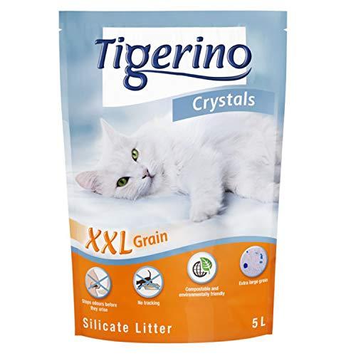 Tigerino Crystals Silicato - Lettiera per gatti XXL, 6 x 5 litri