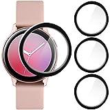CAVN Kompatibel mit Samsung Galaxy Watch Active 2 40mm Schutzfolie [3-Stück], 3D Kante Bildschirmschutzfolie, Vollabdeckung, Anti-Kratzer Blasenfrei Schutz (Nicht für Active 1)