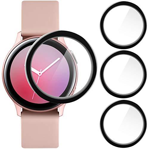 CAVN Kompatibel mit Samsung Galaxy Watch Active 2 40mm Schutzfolie [3-Stück], 3D Kante Displayschutzfolie, Vollabdeckung, Anti-Kratzer Blasenfrei Schutz (Nicht für Active 1)