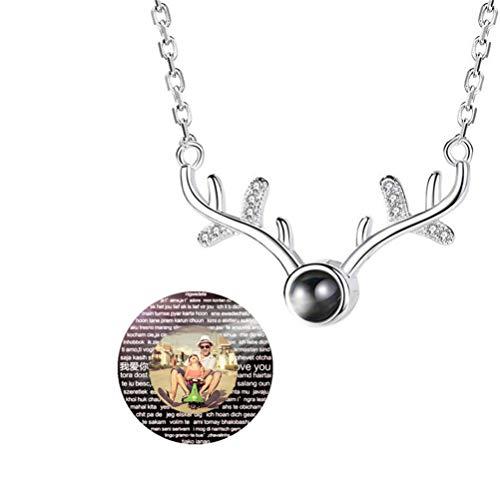 N/A Mode Liebe Erinnerung Projektion Halskette Ich Liebe Dich In 100 Sprachen Anhänger(Silber farbenreich 20)