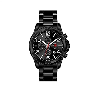 T5 H3394G-C Round Stainless Steel Analog Watch for Men - Black