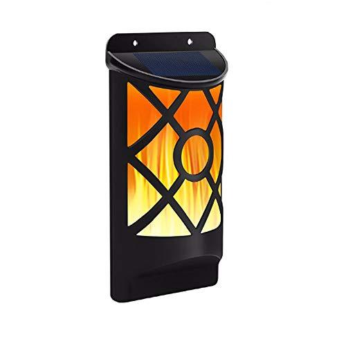 WYY zonnelampen voor buiten, muur, vlam, fonkelend, nachtlampje, op zonne-energie, design, waterdicht, voor binnenplaats, platform, patio, paden