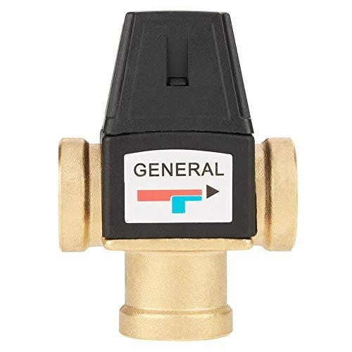 Aufee Mischventil, 3-Wege-Messingventil mit DN20-Innengewinde Thermostatisches Mischventil für Solarwarmwasserbereiter, Dusche System