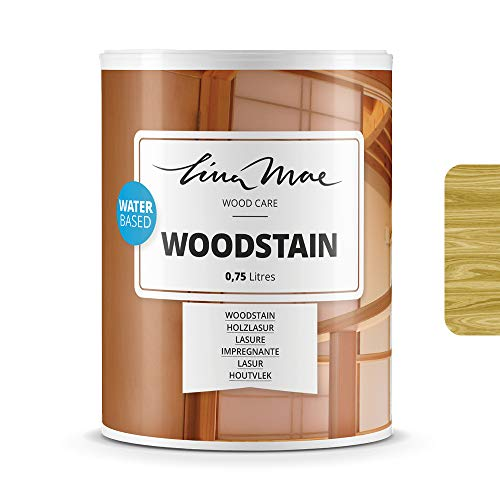 Woodstain (Varnish) with Satin Finish Water-Based - Open Pore Wood Protector to Decorate and Protect New or Restored Wood Ideal for Chairs, Doors and Tables (750 ml, Pine)