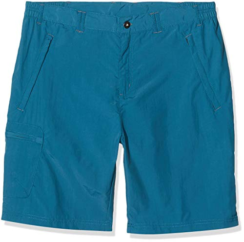 Regatta Leesville - Pantalones Cortos de Senderismo para Hombre, Ligeros, repelentes al Agua, con protección UV, para Hombre, Hombre, Pantalones Cortos, RMJ173, Azul (Sea Blue), 40 Pulgadas