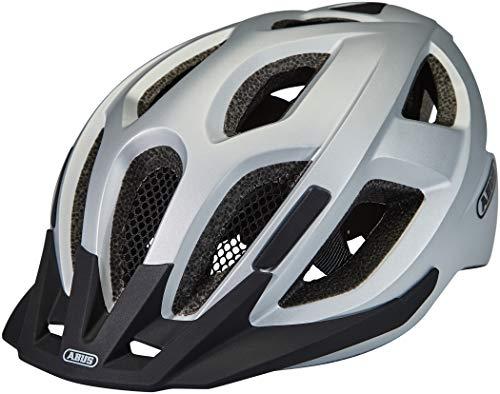 ABUS Aduro 2.0 Stadthelm - Allround-Fahrradhelm in sportivem Design für den Stadtverkehr - für Damen und Herren - 86980 - Silber, Größe S