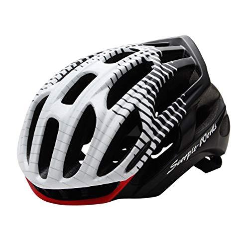 CHENGGUOFENG Casco de Bicicleta de Ciclismo for Hombres Adultos Mujeres Deportes Casco Protector de Seguridad Casco cómodo Ajustable 36 respiraderos (Color : 01blanco, Size : M)
