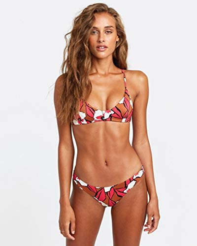 RVCA Junior s Bloom Cheeky Coverage Bikini Bottom Rum S product image