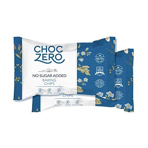 ChocZero's Milk Chocolate Chips - No Sugar Added, Low Carb, Keto Friendly (2Bags, 14oz)
