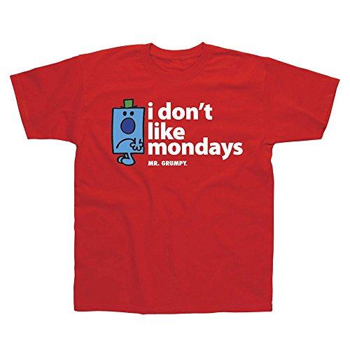 Mr Men Mr Grumpy Je ne Like Mondays Adult T-Shirt - Taille Petit