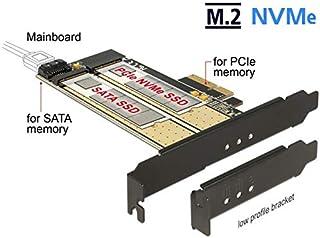 Delock PCI Express X4 Karte > 1 x intern m.2 Key B + 1 x intern NVMe m.2 Key m   Low Profile Formfaktor
