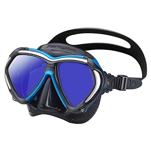 TUSA M-2001 Paragon Scuba Diving Mask, Black/Fishtail Blue