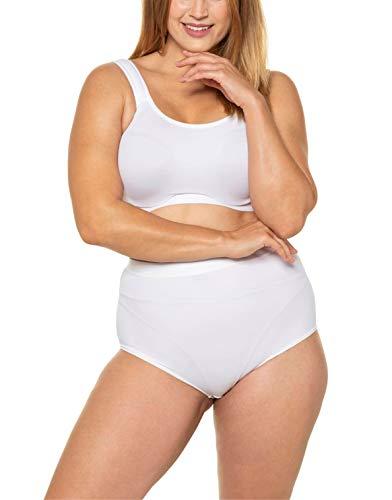 Ulla Popken Damen große Größen Bustier, sportlich, Uni C/D-Cup BH, Weiß (Weiß 72706520), 95D