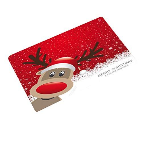 Goefly Alfombra navideña, protección del Medio Ambiente Baño navideño Alfombra de Pedestal Antideslizante tapete Felpudo tapete Antipolvo decoración navideña