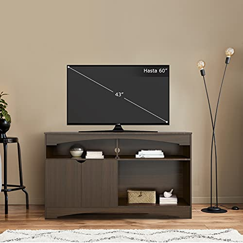 MOBI Mesa para Television de Madera Modelo Afrodita Color Tabaco Largo 140 cm TV