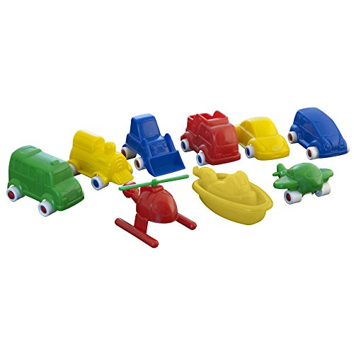 Miniland 50.27470 Minimobil 9 pièces, Multicolore
