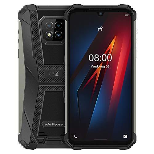 Ulefone Armor 8 Rugged Smartphone Android 10, 6,1''HD+ IP68 Robusto Telefono Cellulare Impermeabile, Helio P60 4GB+64GB, Fotocamera Quattro 16MP, GPS NFC, Impronte Digitali Sblocco Facciale Nero