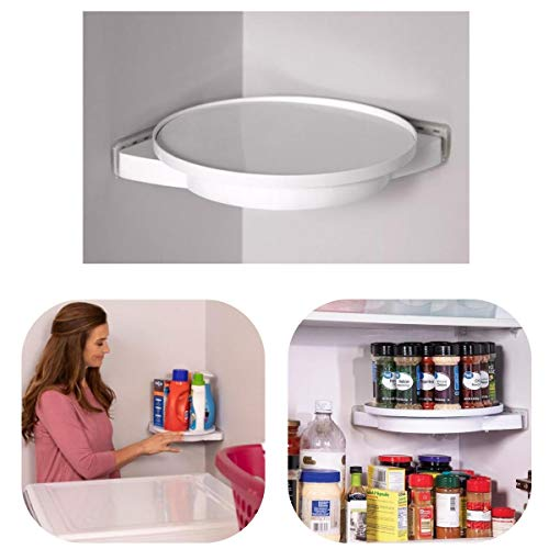 360° Rotating Triangle Shelf,Corner Shelf Bathroom Shower Caddy Organizer for Kitchen Toilet