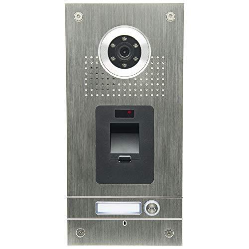 AE Farb-Videotürsprechanlage m Fam, Außeneinheit, Edelstahlfrontplatte, 1 Familie, Fingerprint Leser, Unterputzmontage,SAC562C-CKZ(1)