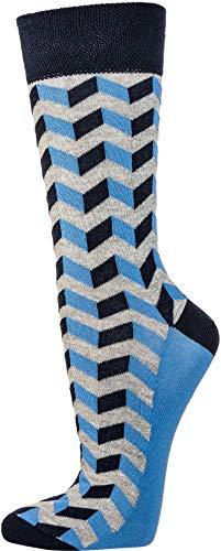 socksPur HERREN SOCKEN JEANS-TREND oder Grafik Sox Labyrinth MOTIVE 3er- BÜNDEL (43-46, 6206: marine- jeans in den Motiven vorsortiert)