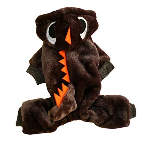 YiiJee Haustier Kleidung Hundepullover Hunde Kleider welpen Pullover Hunde Warmer Mantel für Katzen Kleine Hunde Winterjacken Mäntel für Herbst und Winter 3 M