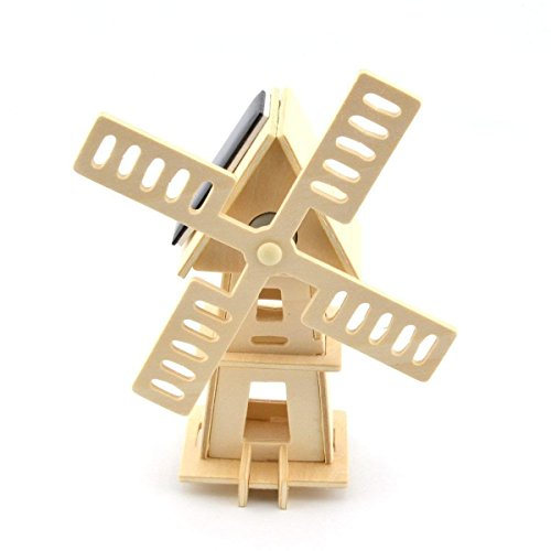 Original Hobby Wood Craft 3D Puzzle (Solar Powered Windmill)