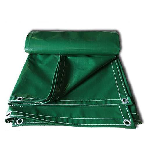 LJFPB Couverture Verte de de Polyester résistante imperméable, résistante UV, de pourriture, de déchirure et de déchirure épaisse avec des Oeillets et des Bords renforcés 600g / m²,0.5mm
