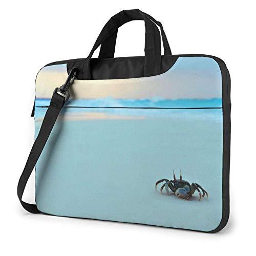 Crab Sea Wave Sand Laptop Shoulder Bag Compatible Laptop Messenger Shoulder Bag with Strap