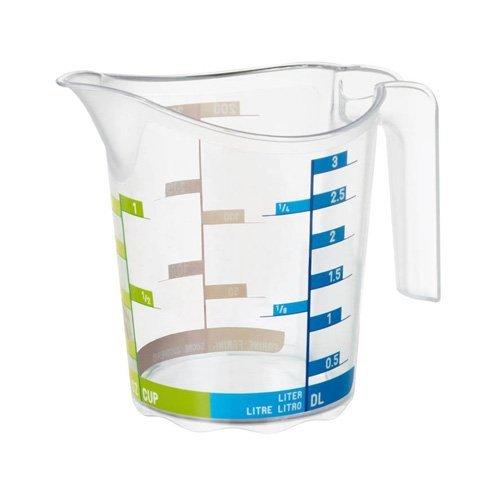 Rotho Domino Tazza di misura 0.3l con scala graduata, Plastica PP senza BPA, Transparente, 0.3l 12.3 x 8.6 x 10.5 cm
