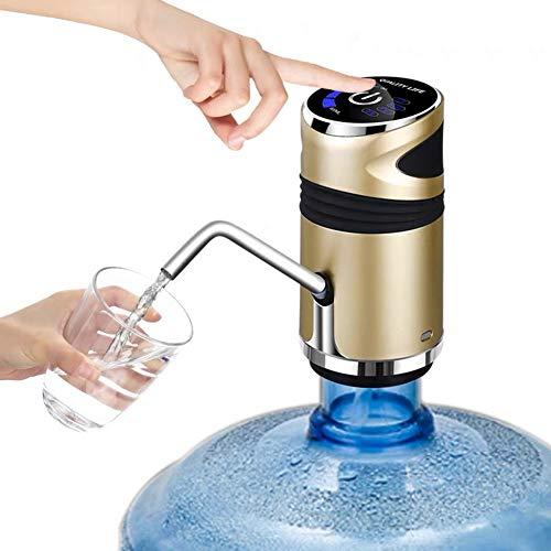 HAOXIU Bomba de agua eléctrica para botella de agua potable automática, con carga USB para oficina, hogar, cocina, escuela